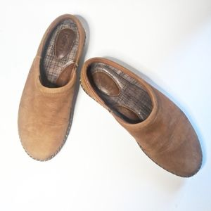 Born Tan Suede Slip On Loafers Size 7.5